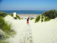 Weg naar het strand